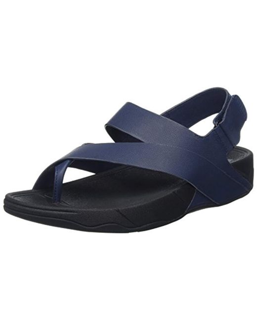 Fitflop Blue Surfer Leather Sandal Open-toe for men
