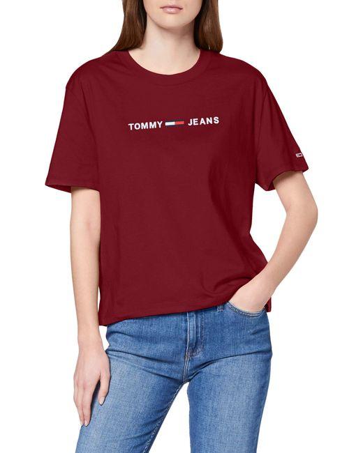 Tommy Hilfiger Purple Tjw Clean Linear Logo Tee T-shirt