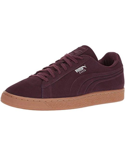 PUMA - Purple Suede Classic Debossed Q4 Fashion Sneaker for Men - Lyst ... 7cef0c2f9