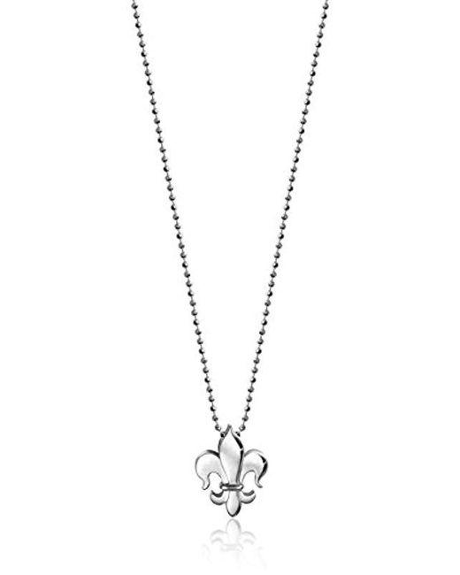 """Alex Woo - Metallic Little Faith Fleur-de-lis Pendant Necklace, 16"""" - Lyst"""