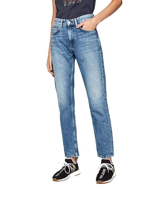 Mable Jeans Straight di Pepe Jeans in Blue