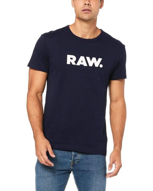 Holorn R T S/S Camiseta G-Star RAW de hombre de color Blue