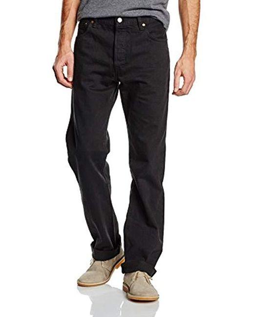 501 Original Fit' Jean Droit Homme Levi's pour homme en coloris Black