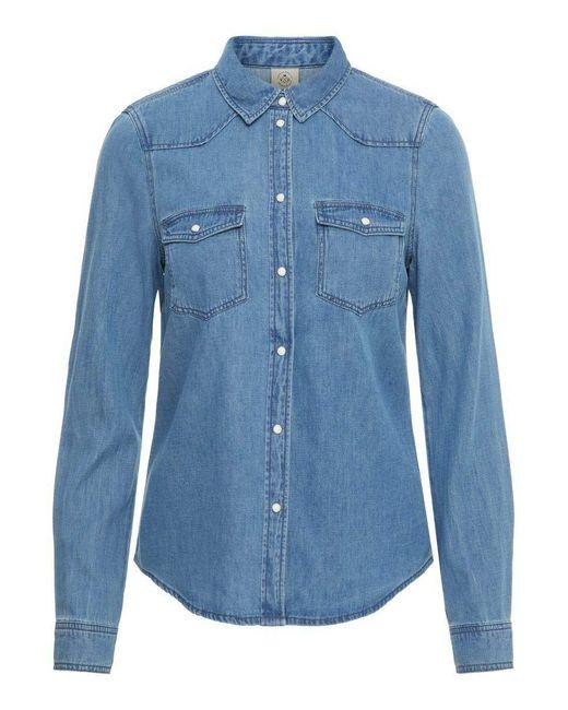 Vero Moda Blue Vmmaria Ls Dnm Slim Shirt Mix Ga Noos Ci