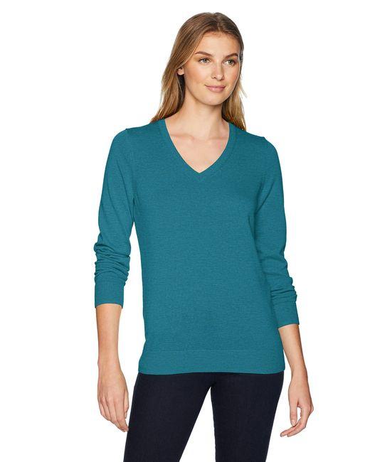 Sweater v-Neck-Sweaters di Amazon Essentials in Blue