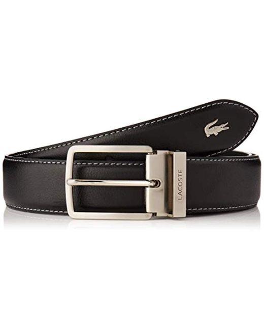 Cinturón para Hombre Lacoste de hombre de color Black