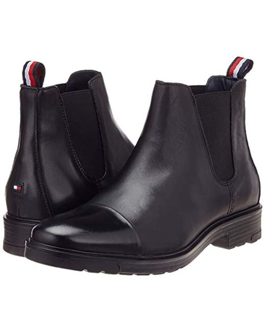 on sale 94173 7b0af Herren Elevated Material Mix Chelsea Boots in schwarz