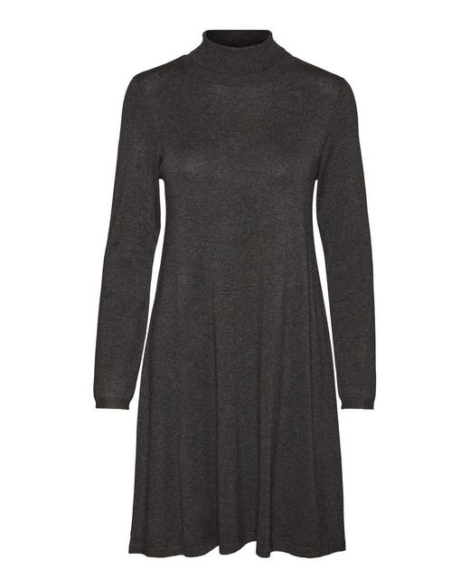 VMGLORY LS Rollneck Dress Color Vestito di Vero Moda in Gray