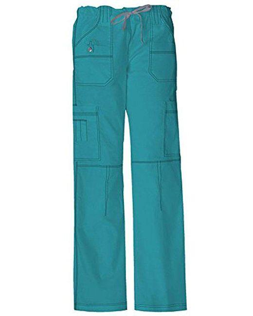 Dickies - Blue Petite Scrubs Gen Flex Contemporary Fit Contrast Stitch Cargo Pant - Lyst