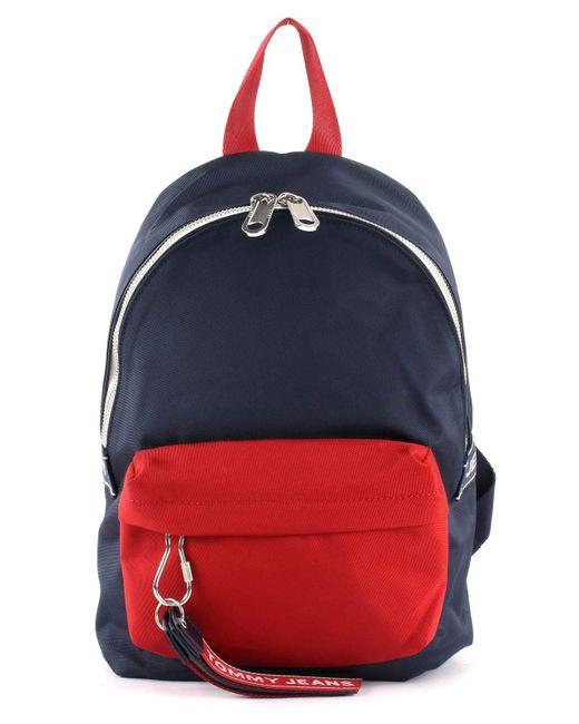 TJU Logo Tape Mini Backpack Corporate Tommy Hilfiger pour homme en coloris Blue
