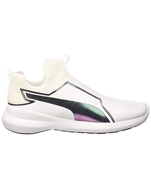Puma Women's Rebel Mid WNS Swan Low Top Sneakers