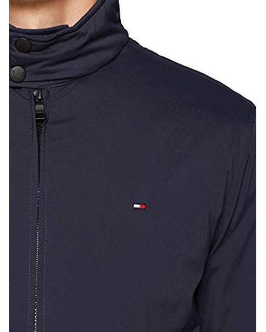 offiziell am besten wählen gutes Angebot Tommy Hilfiger Synthetic Padded Nylon Bomber Jacket in Blue ...