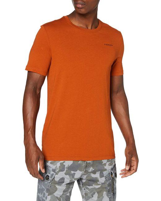 Text Slim Camiseta G-Star RAW de hombre de color Red