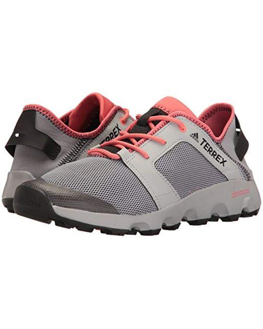san francisco cdead 2b3d4 Women's Gray Outdoor Terrex Climacool Voyager Sleek Water Shoe,  Grey/black/tactile Pink, 7 M Us