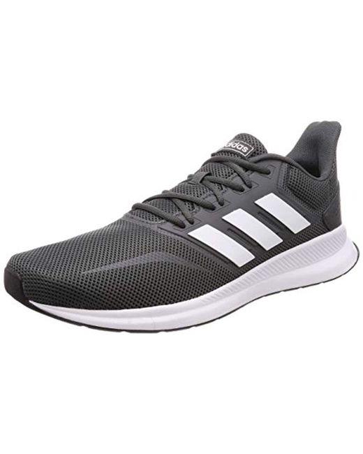 592ba1fe68e4 Adidas - Gray Runfalcon Running Shoes for Men - Lyst ...