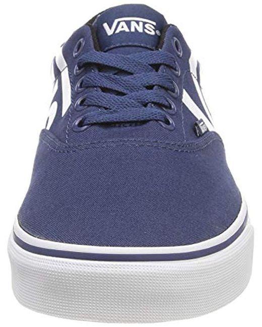598e141cdb845d ... Lyst Vans - Blue  s Doheny Big Logo Low-top Sneakers for Men ...