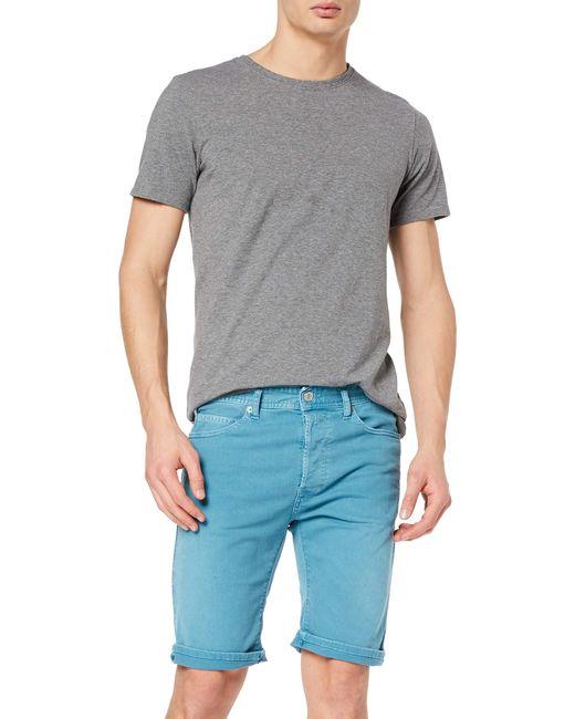 Rbj.901 Short Pantaloncini di Replay in Blue da Uomo