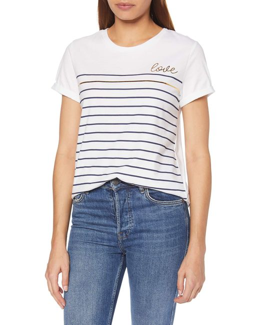 069eo1k018 T-Shirt di Esprit Collection in White