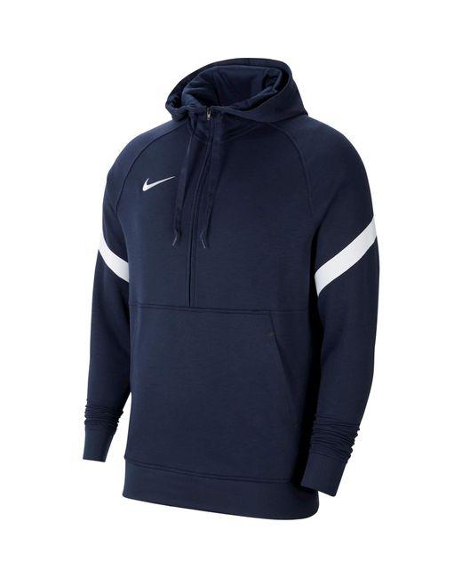 Nike Strike 21 Hoodie Fleece 1/2-Zip Hoody in Blue für Herren