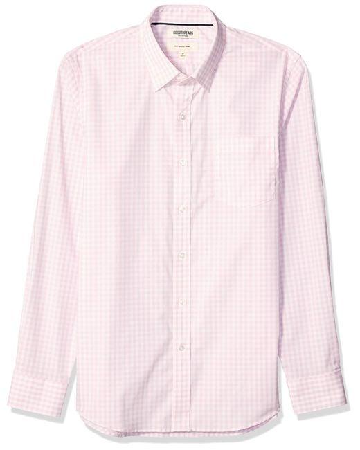 Slim-Fit Long-Sleeve Stretch Poplin Goodthreads pour homme en coloris Pink