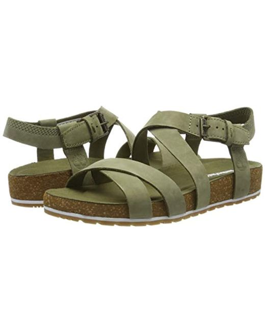 4579fa56c Timberland Malibu Waves Ankle Strap Sandals in Green - Save 40% - Lyst