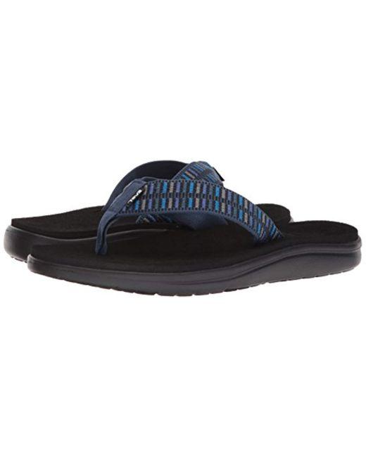 be57253b32ee ... Teva - Blue M Voya Flip Flops for Men - Lyst ...