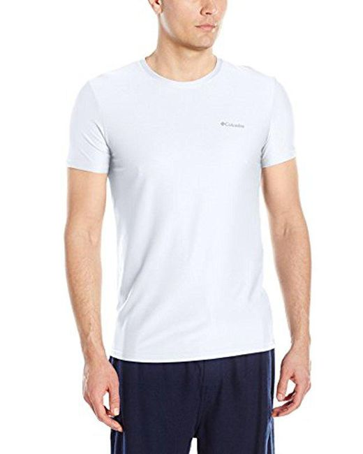 Columbia - White Diamond Mesh Crew Neck Tee Shirt for Men - Lyst