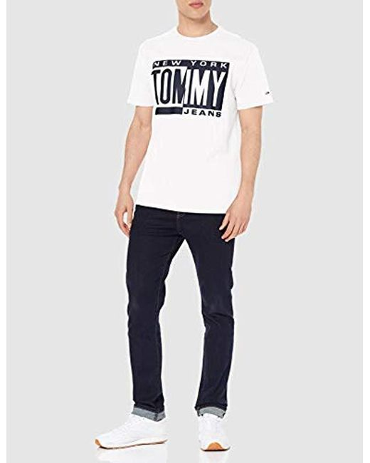 ca4abc4d ... Tommy Hilfiger - White Tjm Box Logo Tee T-shirt for Men - Lyst ...