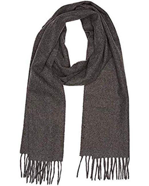 Gant - Gray Solid Lambswool Scarf for Men - Lyst
