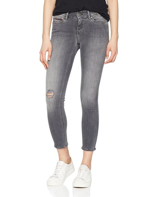 Tommy Jeans Mujer Mid Rise Nora Jeans Tommy Hilfiger de color Gray