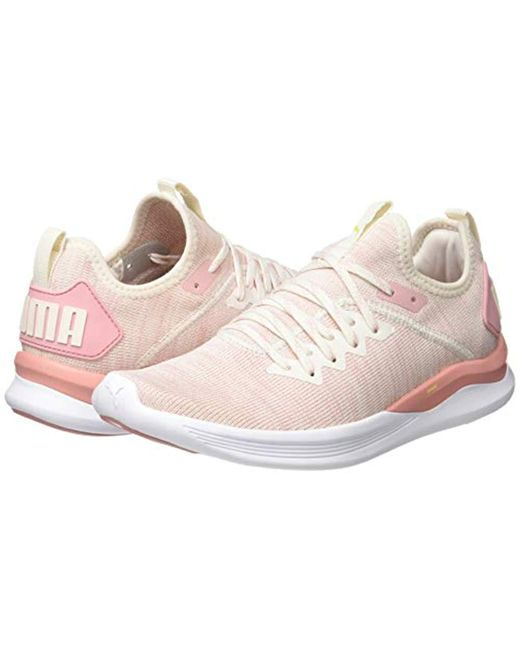 separation shoes 98074 3a196 Women's Pink Ignite Flash Evoknit Wn's Running Shoes