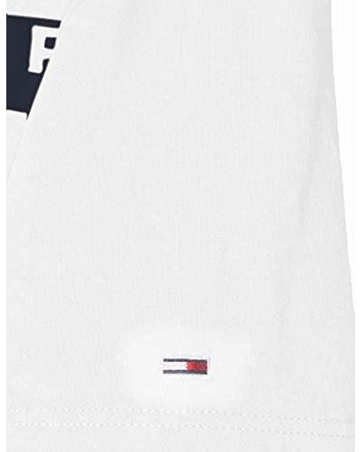 8e21b0bb ... Tommy Hilfiger - White Tjm Box Logo Tee T-shirt for Men - Lyst
