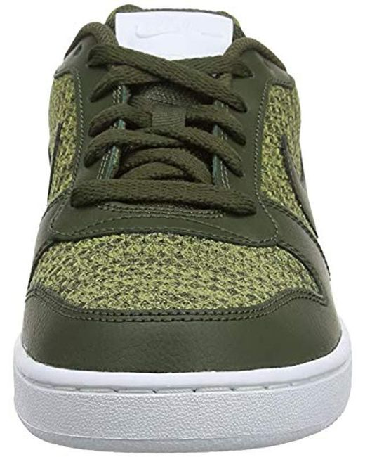 lace up in amazing price buying cheap Nike Ebernon Low Prem Top Sneakers in Green for Men - Save ...