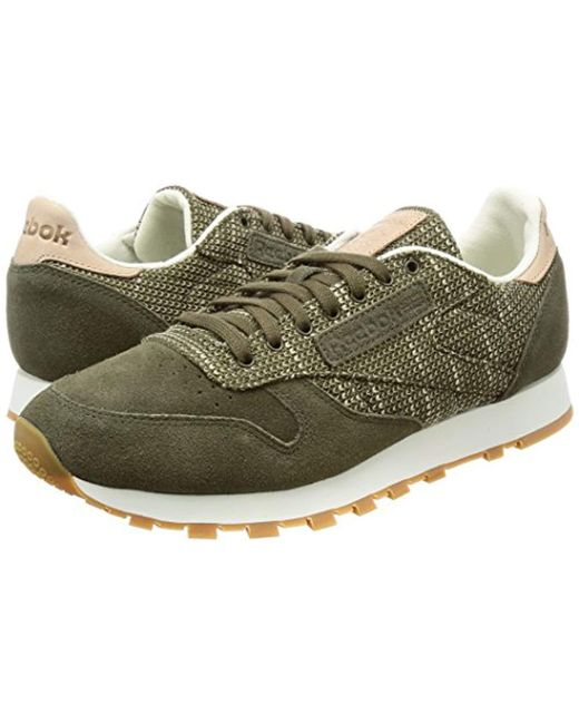 60d829b88be49 Reebok  s Cl Leather Ebk Fitness Shoes in Green for Men - Lyst