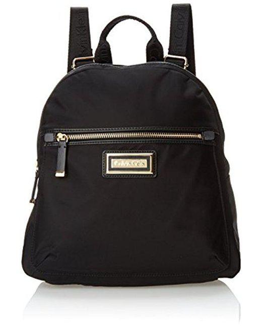 CALVIN KLEIN 205W39NYC - Black Dressy Nylon Backpack - Lyst