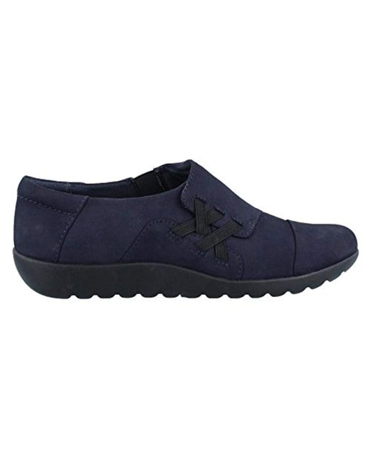 Clarks - Blue Medora Sandy Slip-on Loafer - Lyst