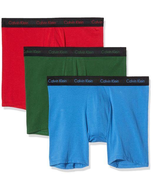 Boxer Brief 3pk Bikini Calvin Klein pour homme en coloris Blue