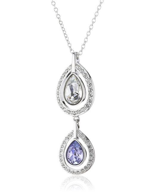 Catenina con pendente da donna con cristallo di Swarovski in Blue