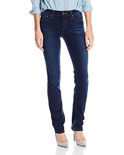Joe's Jeans - Blue Cigarette Midrise Straight Leg Jean - Lyst
