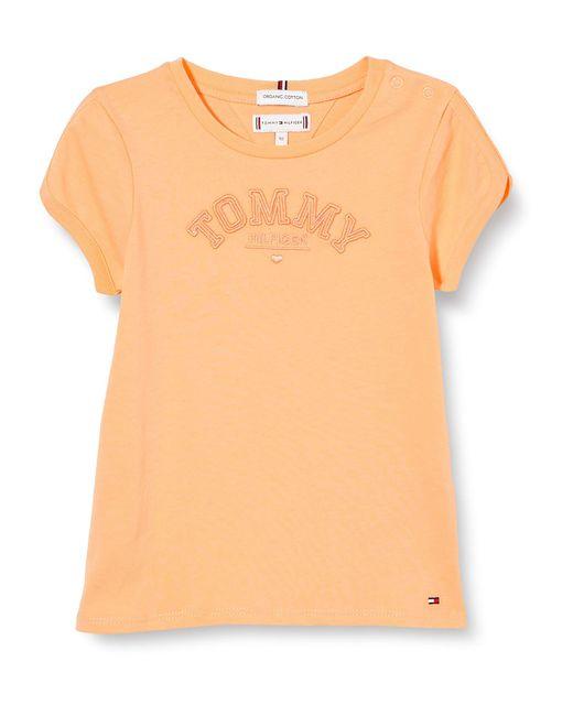 Tonal Embro Graphic tee S/s Camiseta Tommy Hilfiger de hombre de color Orange