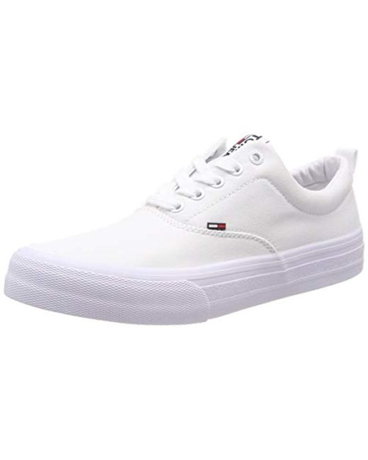 30061a99 Tommy Hilfiger White Hilfiger Denim Classic Sneaker, Low-top Sneakers for  men ...
