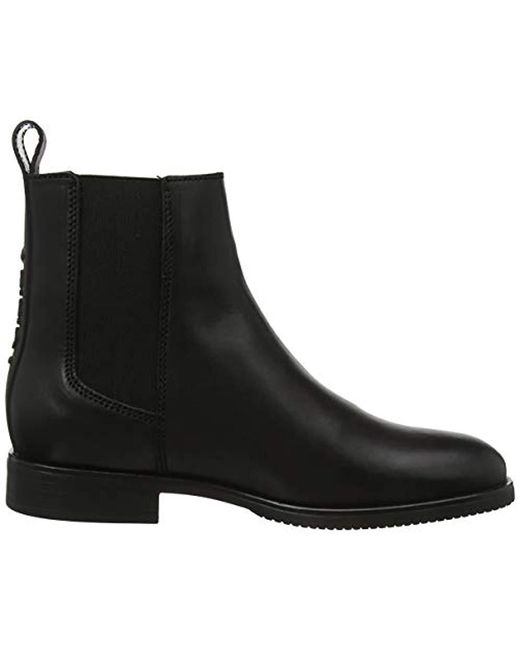 huge selection of c217b 1ead2 Tommy Hilfiger Pin Logo Chelsea Boot Ankle in Black - Lyst