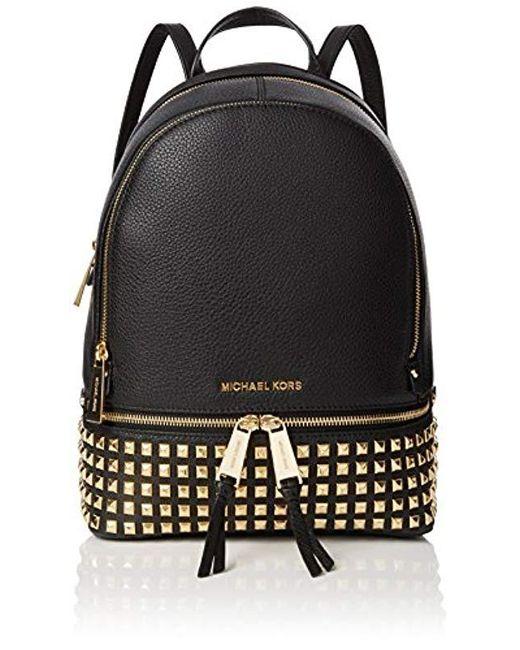 b3156c152cc6 Michael Kors Rhea Zip Backpack in Black - Save 14% - Lyst