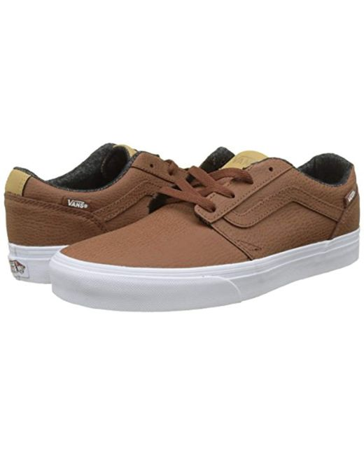 c2cbab95e829 ... Vans - Brown Chapman Stripe Leather Trainers for Men - Lyst ...