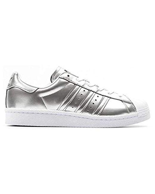 brand new 1e6bd 82e2b Women's Superstar Boost W Silver Metallic White