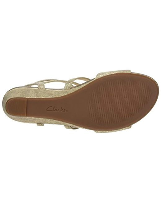 2fbd17359d8 ... Lyst Clarks - Metallic  s Parram Spice Gladiator Sandals ...