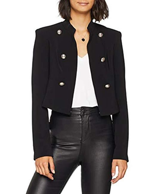 finest selection 98c58 6f45c Women's Black Giacca Graciana Crop Jacket Coat