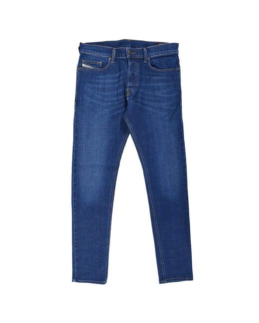 DIESEL D-Luster Slim Stretch Denim Blue Washed Jeans 009NN Gr. 30 W/30 L für Herren