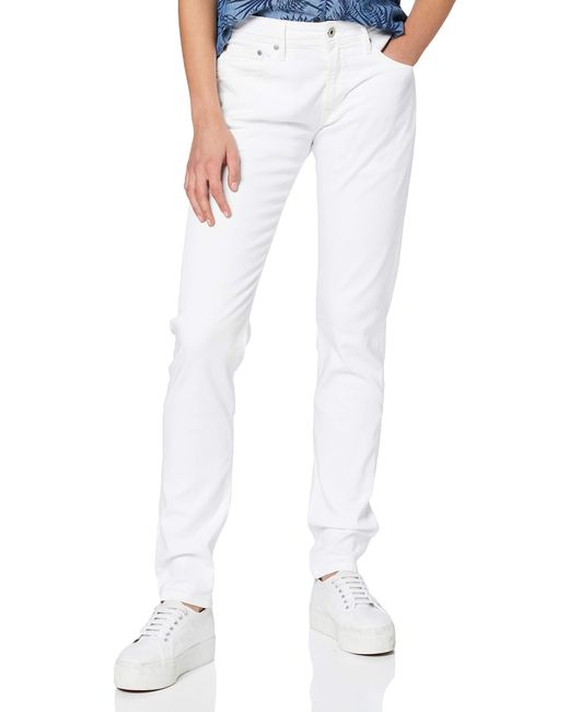 Pepe Jeans White Stanley Straight Jeans for men