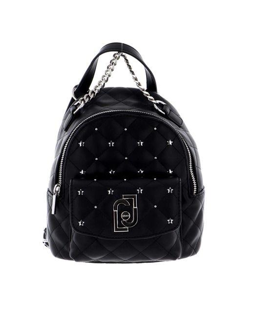 LIU JO Borsa Donna Nero AA1343 E0041 D ZAINO XS TRAPUNTA Moda di Liu Jo in Black